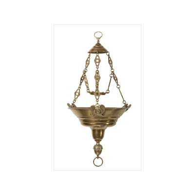 Hanging Sanctuary Lamp with Angels
