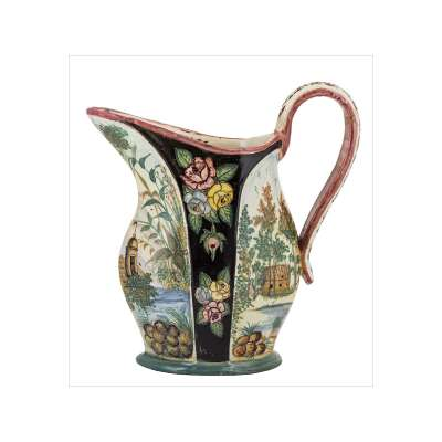 Detailed and Colorful Spanish Pitcher