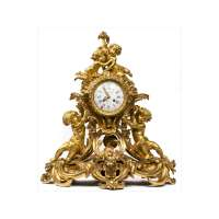 Ormolu Mantel Clock with Putti