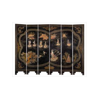 Chinese Lacquer Folding Screen