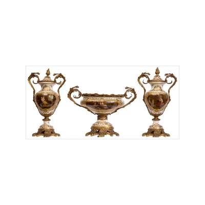Set of Three Sèvres Pieces