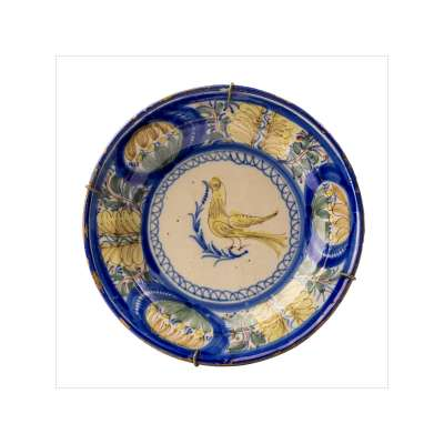 Manises 'Bird with Blue' Plate