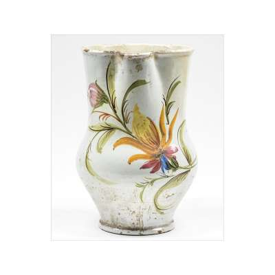Pitcher with Ornate Flower