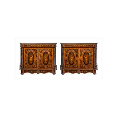 Pair of Marquetry Cabinets