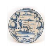 Plate with Dog / Wolf