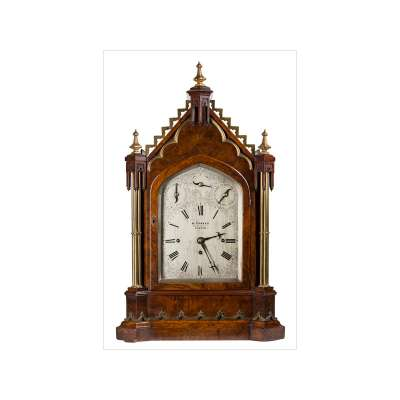 English Cathedral Style Bracket Clock