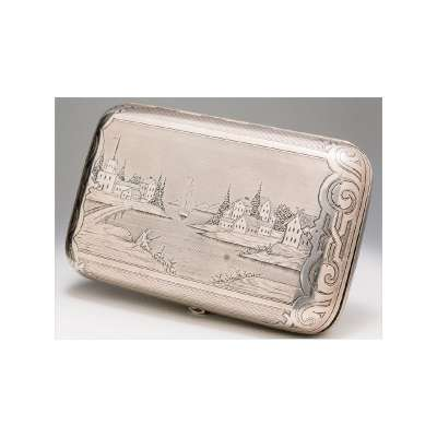 Cigar Case with Engraved Scene