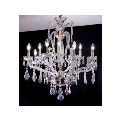 Glass and Crystal Chandelier