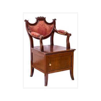"Second Empire ""Chaise Percée"" Toilet / Commode Chair"