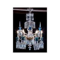 Baccarat Chandelier with Blue Opaline