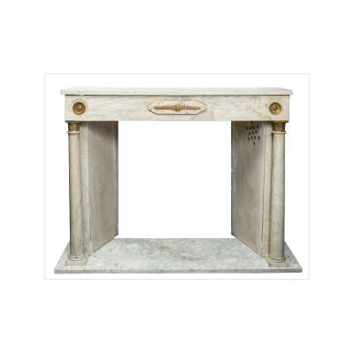 French Empire Style Marble Fireplace