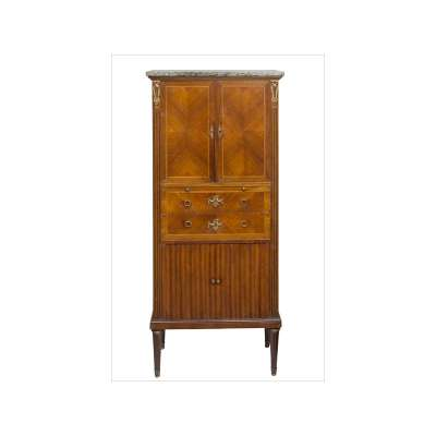 French Standing Secretaire with Tambour Doors
