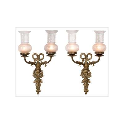 Pair of Louis XVI Style Appliqué Wall Sconces