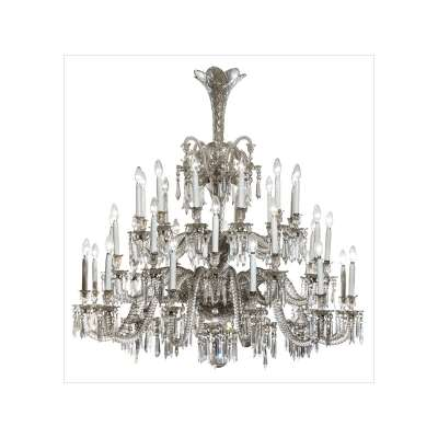 Baccarat Crystal and Glass 36-Light Chandelier