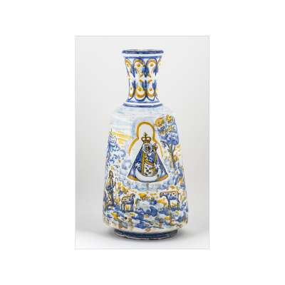 Small Bottle with Virgin Mary Motif