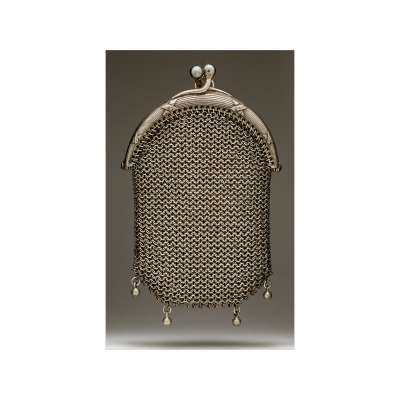 Mesh Purse with Ribbon Detail