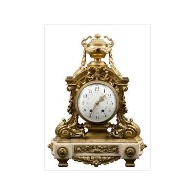 Louis XVI Style Bronze Mantel Clock