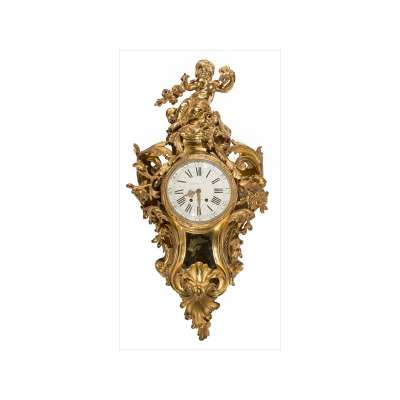 Raingo Ormolu Cartel Clock